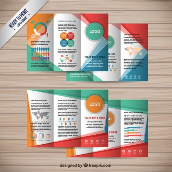 colorful brochures collection free vector download