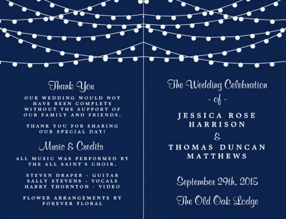 attractive wedding flyer template for download