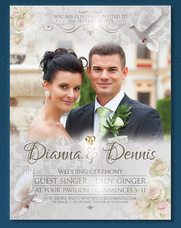 Wedding Flyer Templates  Free Sample Example Format Download