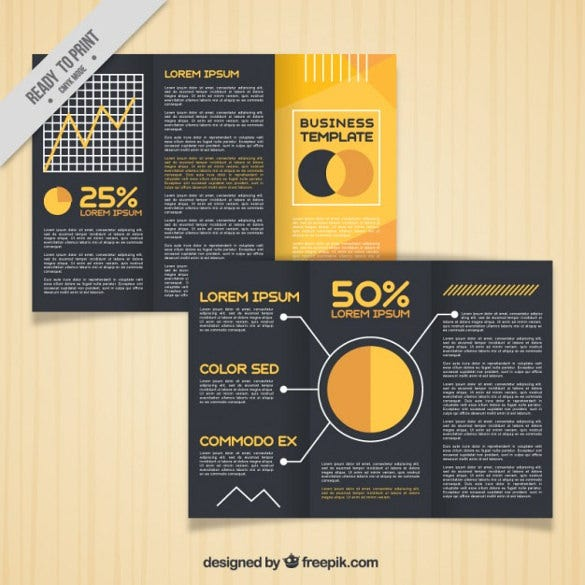 trifold brochure template free vector download