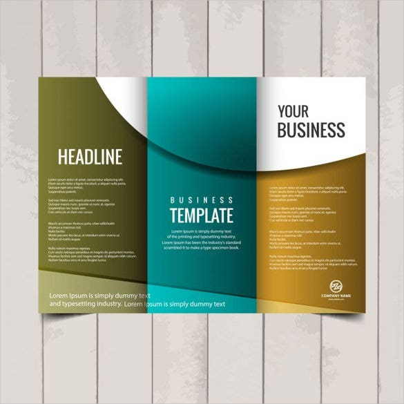 Tri Fold Business Brochure Template Free Vector Download