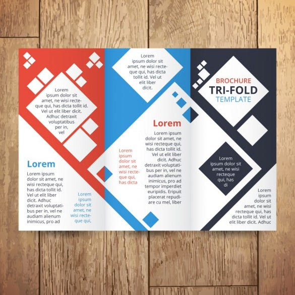 trifold with squares free vector download