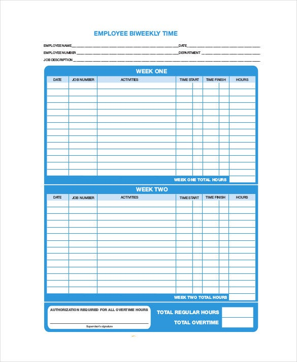 12 time tracking templates free word excel pdf documents