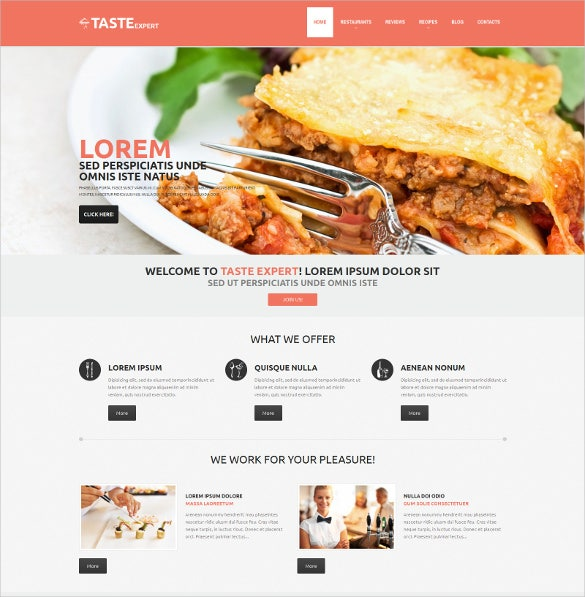 cafe restaurant responsive wordpress theme