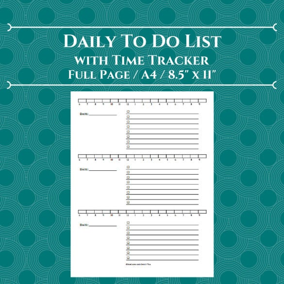 12+ Time Tracking Templates – Free Sample, Example Format Download