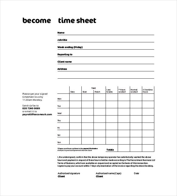 beuk timesheet tracker free pdf format download