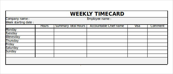Excel Time Tracking Template