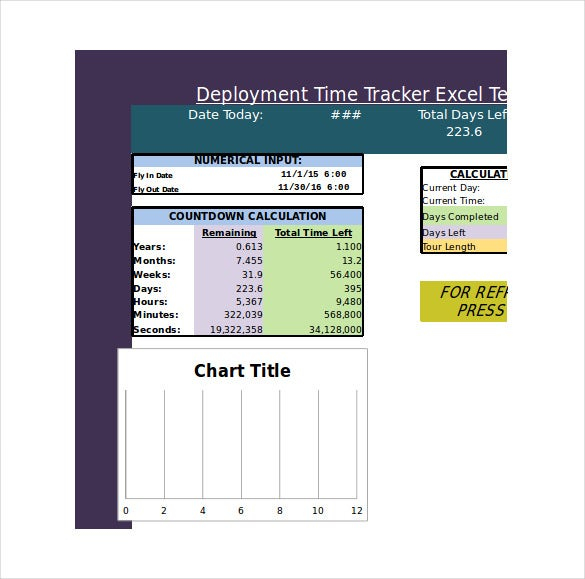 deployment time tracker excel template