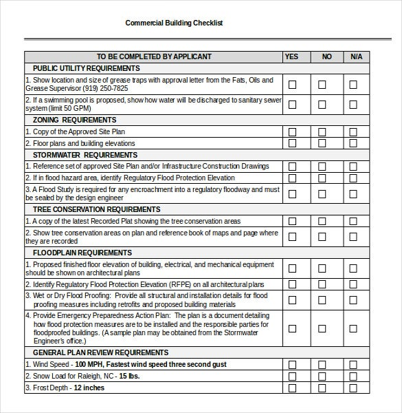 Checklist Template Word Word Format Building Checklist Template Free Download