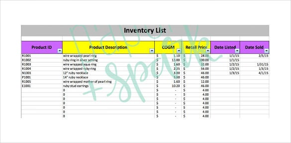 inventory tracking template download