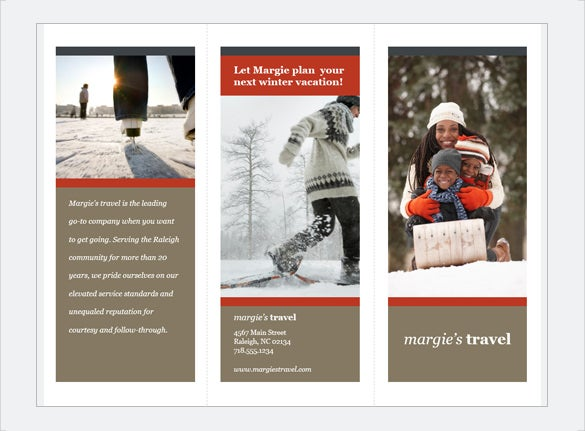 tri fold travel brochure free download