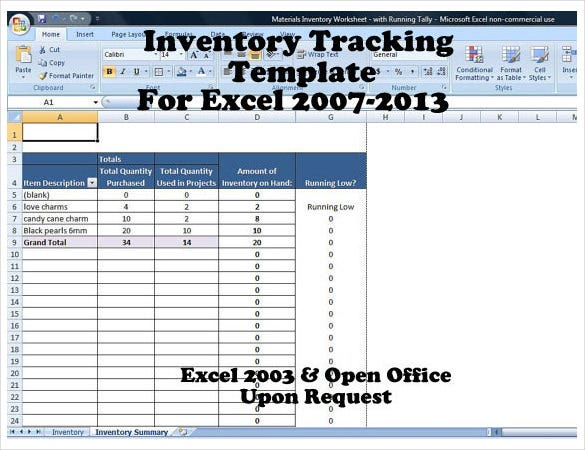 Inventory Tracking Templates  Free Sample Example Format