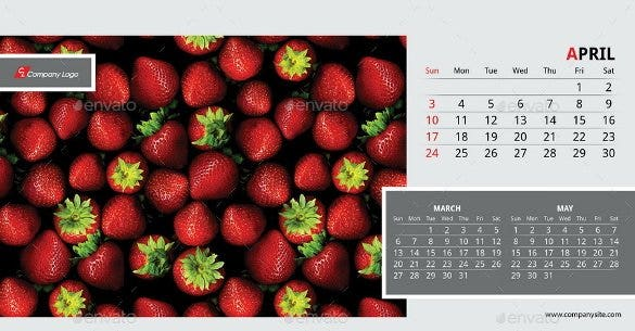 2016 desk calendar template indesign format downlo