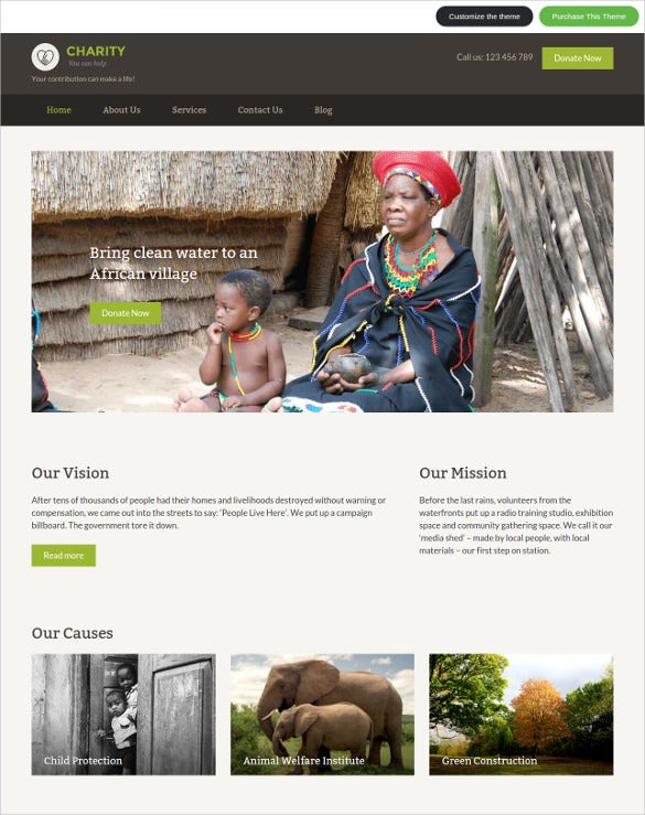 quick edit nonprofit wordpress theme