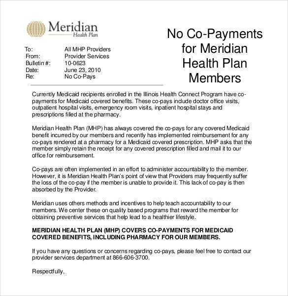 Perfect Professional Health Plan Memo Template Free Download In PDF Format  Download Memo Template
