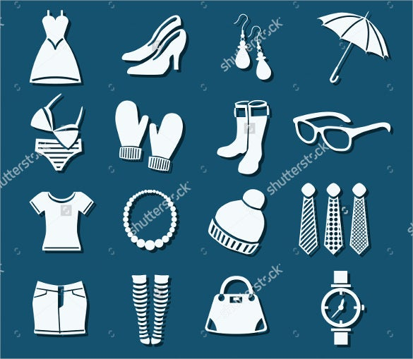 16 fashion icon set collection download