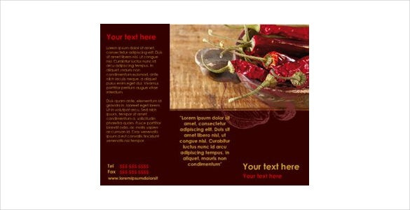 spicy red chilly brochure download