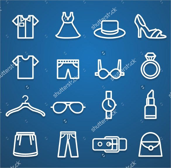 fashion vector icons set download