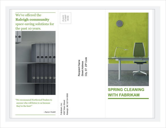 tri fold business brochure green design download