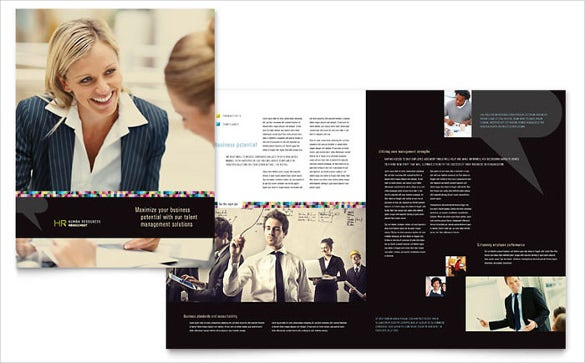 human resource management brochure template download
