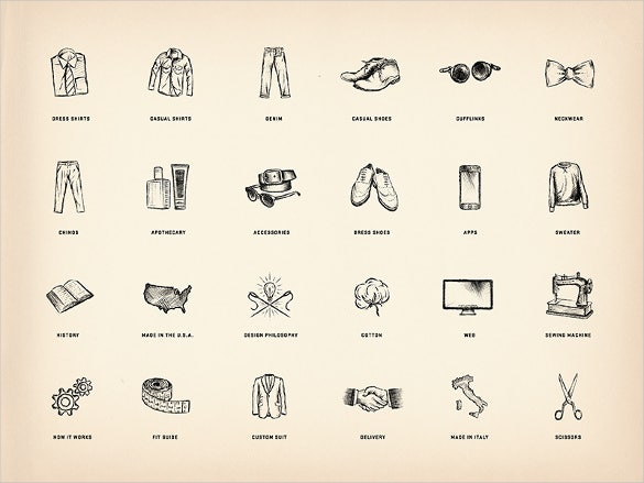 beautiful fasion icon set for website download