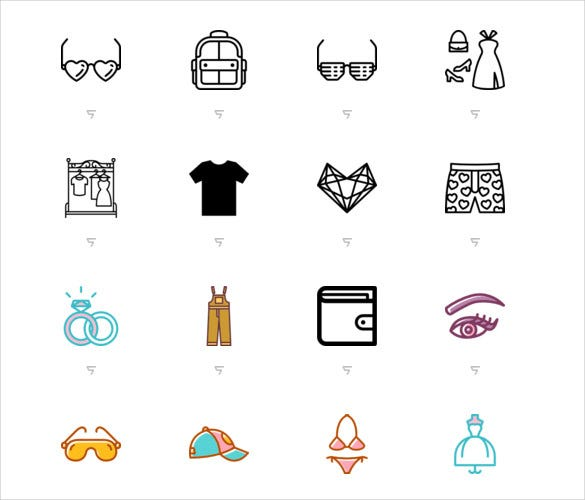 fashion psd icons set download