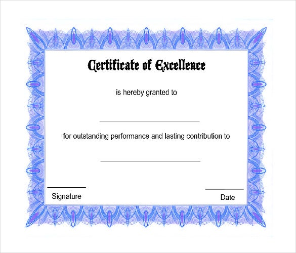 Free Certificate Templates Word