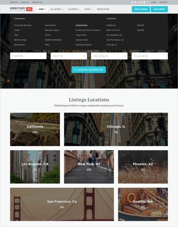 directory builder classified wp theme