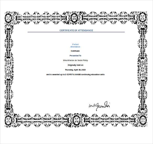 Free Award Certificate Template Word