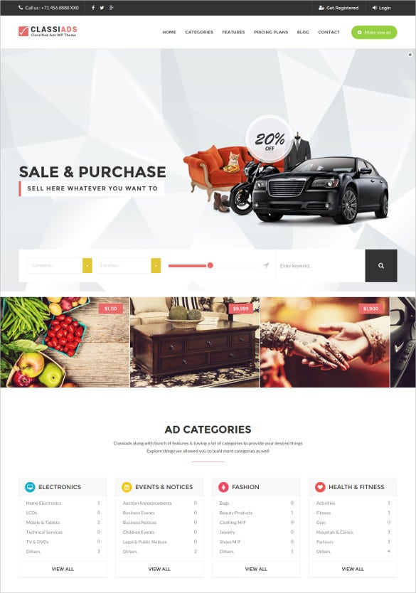 multipurpose classified ads wordpress theme