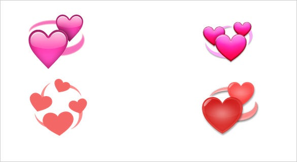 revolving hearts emoji for chatting