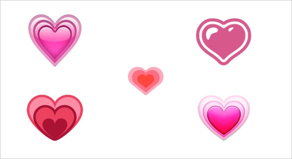 a pink growing heart emoji download