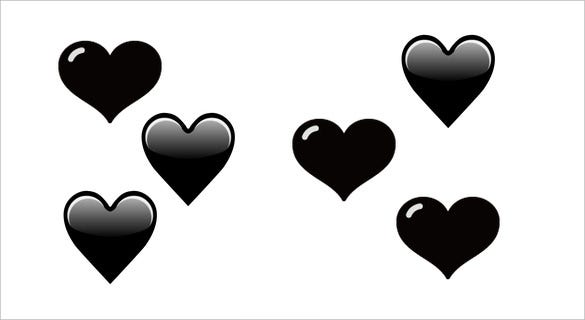 shaded completely black heart emoji for phones
