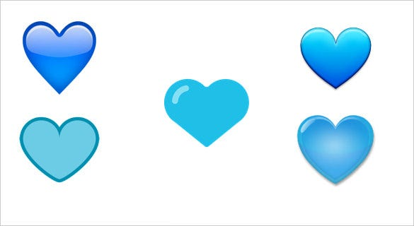 a blue heart emoji download