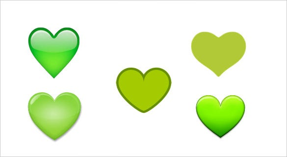 green heart emoji for android phones