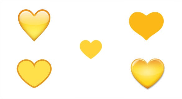 yellow or gold colored love heart for google