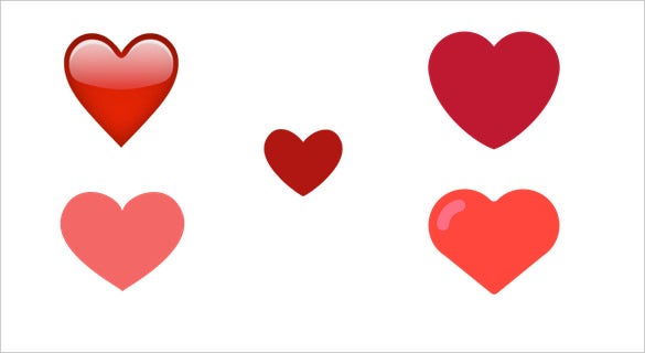 heavy red heart emoji for ios