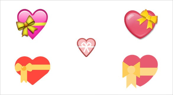 heart with ribbon for facebook