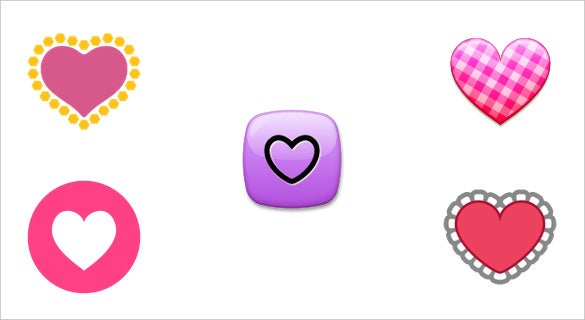 a decorative heart emojis displays on apple devices