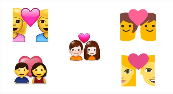 couple with heart emoji download for chat