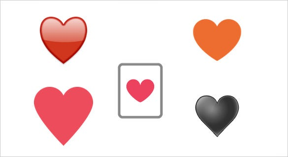 black heart suit emoji symbol download