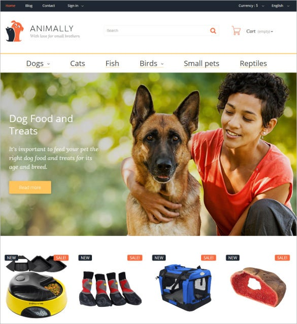 animal pets prestashop theme 1391