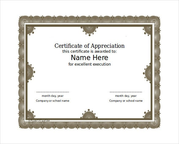 Free Download Word Format Certificate Template  Certificate Samples In Word Format