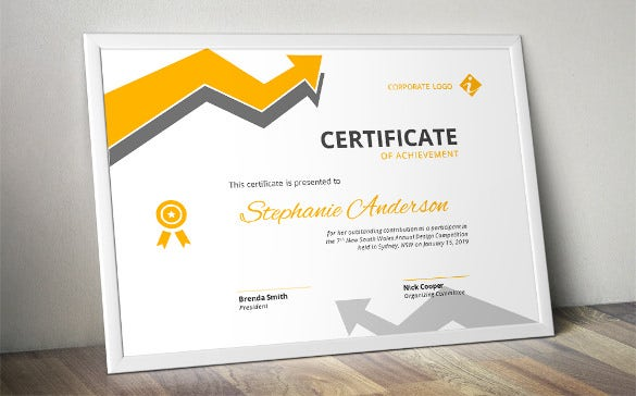 arrow corpotate certificate word format template