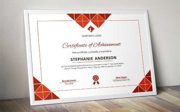 triangle certificate word template download