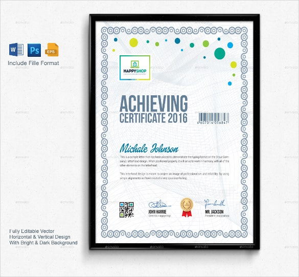 Business Certificate Template Word Format Download  Certificate Template Word