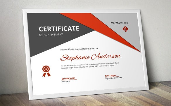 corporate business certificate template word format - Certificate Template Word 2016