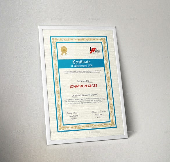 18 Word Certificate Templates Free Download – Corporate Certificate Template