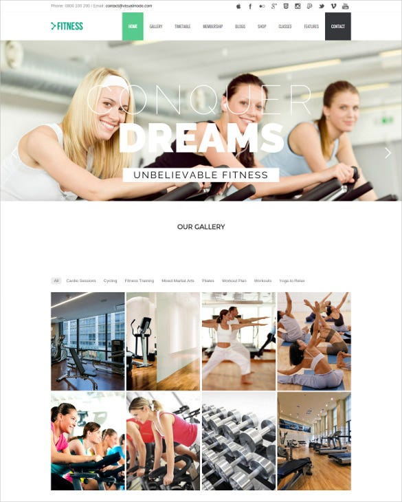 responsive fitness wordpress theme