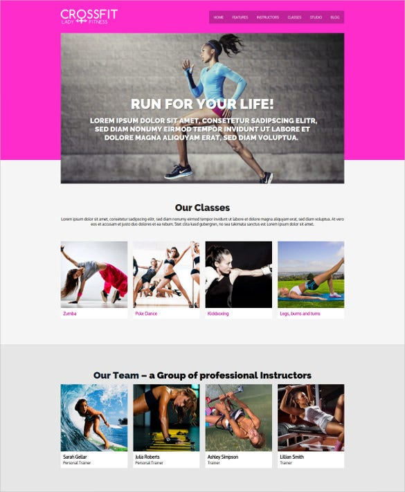fitness gym center wordpress theme